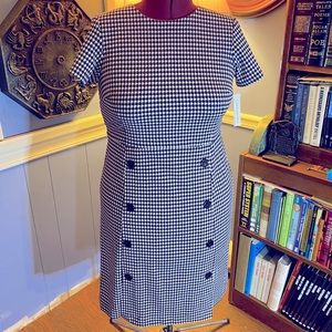 Shelby and Palmer houndstooth business dress